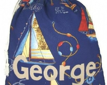 Yacht bag, Shoe bag, PE bag, Personalised bag,Drawstring bag, School bag, Pump bag, Gym bag, Nursery bag,  Appliqued Felt