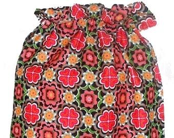 Ikea Malena Fabric Laundry Bag, Storage Bag, Large Drawstring Bag, Nursing Home Bag, Utility Bag, Cottton Bag, 70's retro