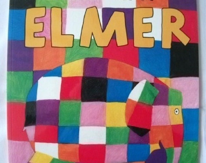 Elmer by David McKee New Paperback book Childrens Fiction Picture Book Bed time Story Colourful Elephant Story