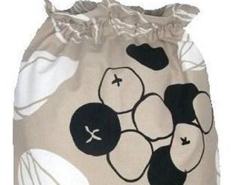 Ikea Majken Laundry Storage Bag, Beige and Black Laundry Bag, Storage Bag, Large Drawstring Bag, Nursing Home Bag, Utility Bag, Cottton Bag