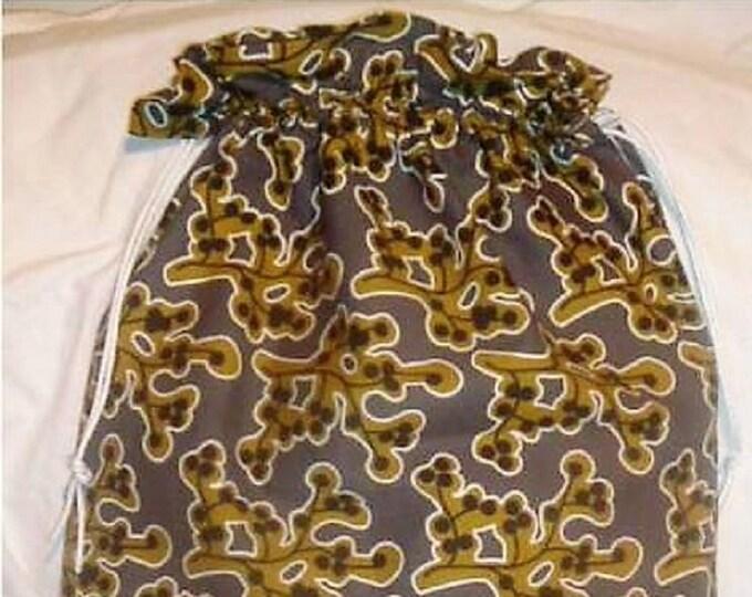 Ikea Patricia Fabric  Laundry Bag, Storage Bag, Large Drawstring Bag, Nursing Home Bag, Utility Bag, Cottton Bag, 60's retro