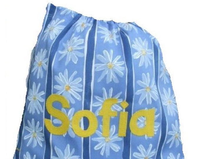 Daisy by Next 100% cotton fabric PE Bag, Nursery Drawstring Bag, Personalised for School or Kindergarten