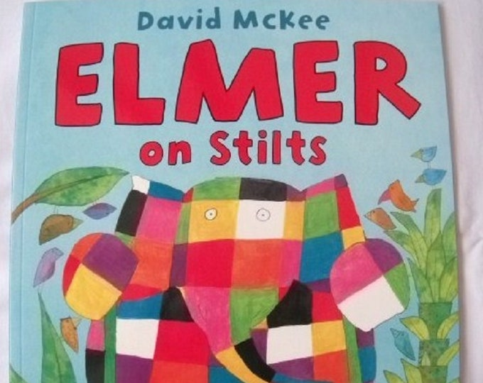 Elmer on Stilts by David McKee New Paperback book Childrens Fiction Picture Book Bed time Story Colourful Elephant Story