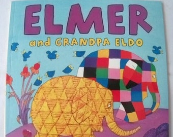 Elmer and Grandpa Eldo by David McKee New Paperback book Childrens Fiction Picture Book Bed time Story Colourful Elephant Story
