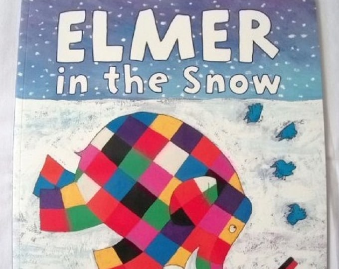 Elmer in the Snow by David McKee New Paperback book Childrens Fiction Picture Book Bed time Story Colourful Elephant Story