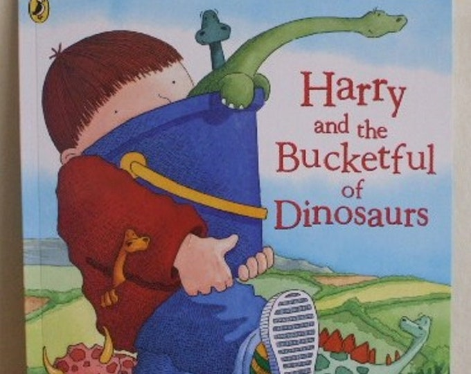 Harry and the bucketful of dinosaurs by Ian Whybrow New Paperback book Childrens Fiction Picture Book Bedtime Story Book