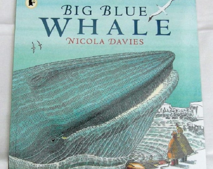 Big Blue Whale by Nicola Davis New Paperback book Childrens NON Fiction Picture Book