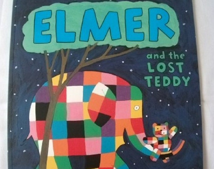 Elmer and the Lost Teddy by David McKee New Paperback book Childrens Fiction Picture Book Bed time Story Elephant Story