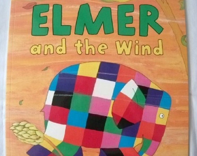 Elmer and the Wind by David McKee New Paperback book Childrens Fiction Picture Book Bed time Story Colourful Elephant Story