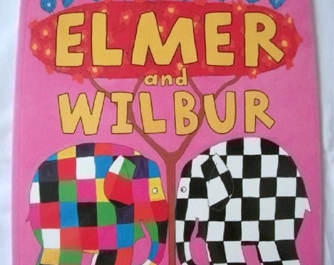 Elmer and Wilbur by David McKee New Paperback book Childrens Fiction Picture Book Bed time Story Elephant Story