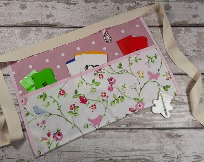 Teachers Gift Apron Pretty Pink Polka Dot 3 or 5 pockets teachers gift Vendor Apron Teacher Utility Belt Read Write Inc Apron RWI