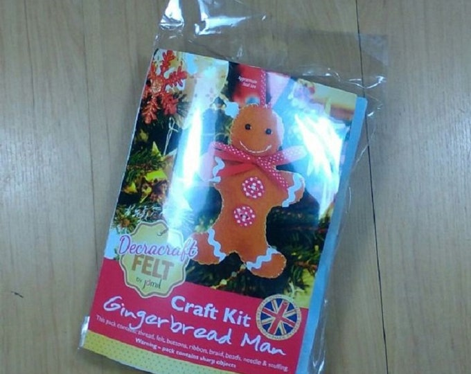Gingerbread Man Childs Craft Kit by Decracraft Christmas Craft Kit Make your own  Gingerbread man kit Stocking Filler