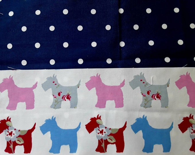 Teacher Apron HIGHLAND TERRIER Scottie Dog Red Choice of Polka Dot and 5 pockets or 3 pockets Vendor Apron Teacher Utility Belt