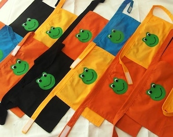Fred the Frog RWI Read Write Inc Apron for Child Choice of Colour Role Play Teacher Phonics Learning