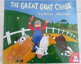 Great Goat Chase by Tony Bonning New Paperback book Childrens Fiction Picture Book Bedtime Story Book