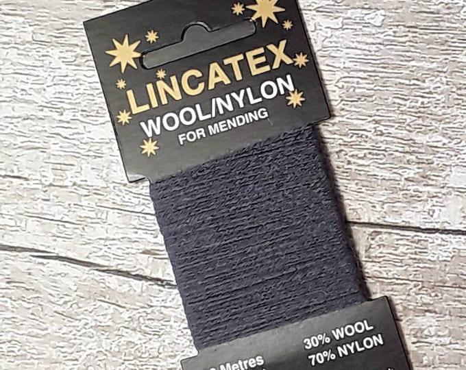 Grey Blue Darning Mending wool in Air force Blue 10 metres Blue Grey Eco-friendly Wool nylon mix