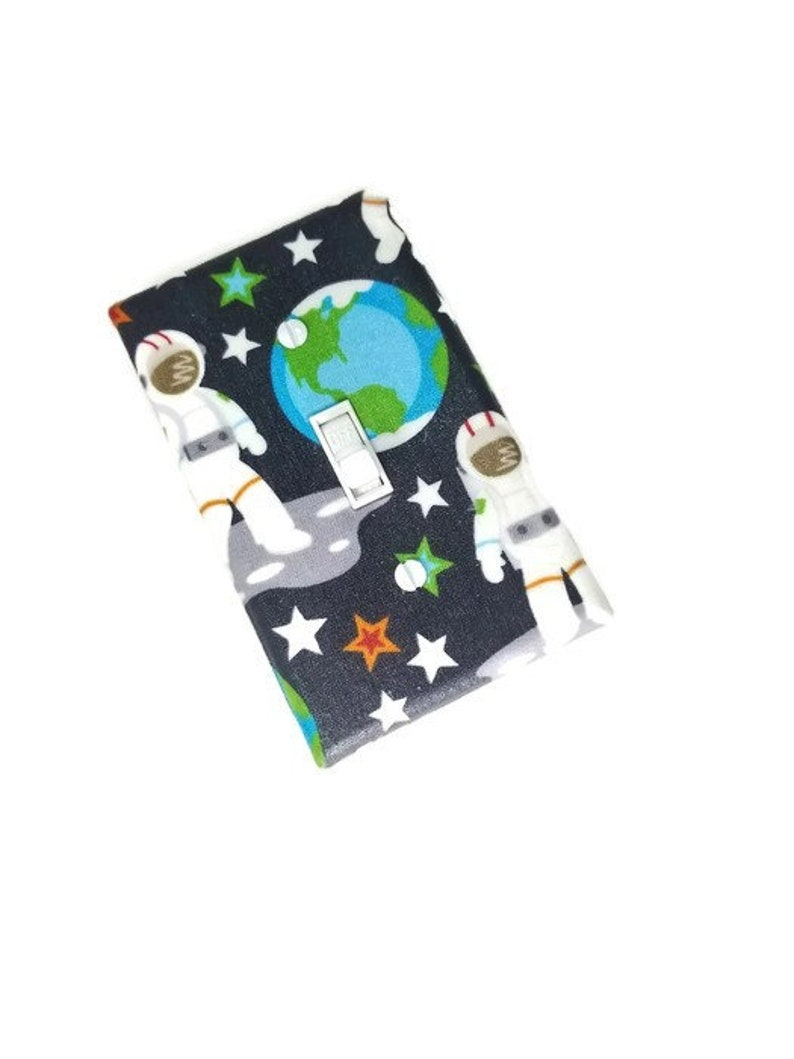 Astronaut Light Switch Cover for Boys Nursery Decor image 0