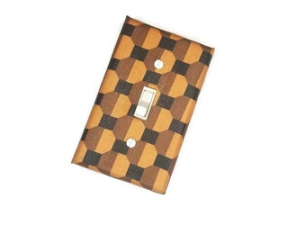 Polka Dots, Abstract, Earth Tone Home Decor Light Switch Cover by Urban Swazi