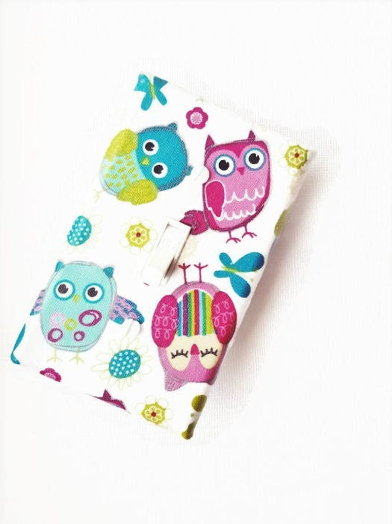 Pink Owl Nursery Light Switch Cover for Girls Nursery Decor image 0