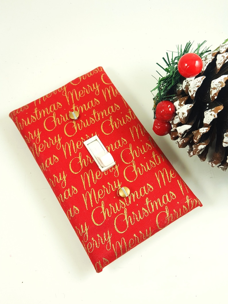 Merry Christmas Light Switch Cover  Christmas Home Decor  image 0