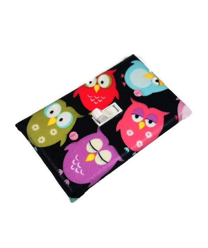 Owl Nursery Theme  Woodland Owls  Light Switch Cover  Owl image 0