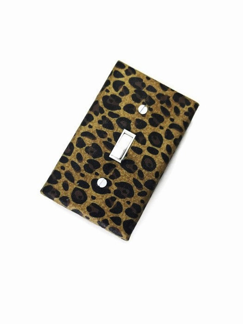 Leopard Print African Inspired Home Decor Light Switch Cover image 0