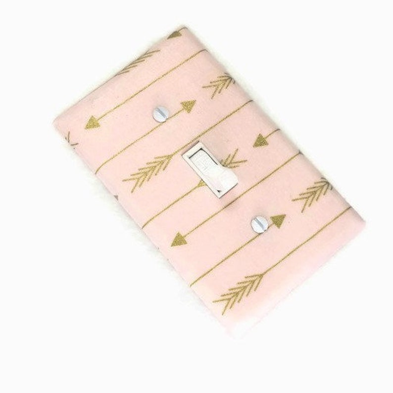 Gold and Pink Nursery Decor with Arrows for Girls Bedroom image 0