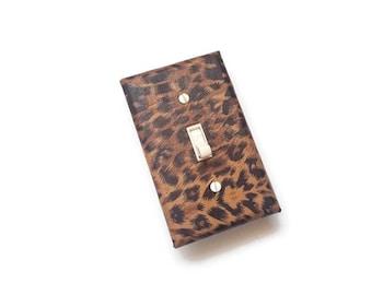 Leopard Print Light Switch Cover. Animal Print Home Decor. Cheetah Design. Safari Switch Plate by Urban Swazi