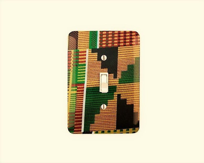 Kente Decor African Inspired Light Switch Cover image 0