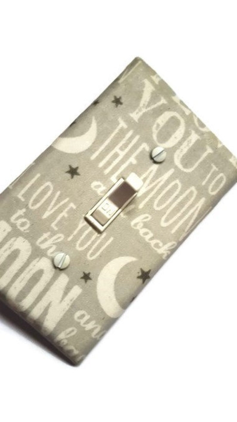 I Love You to the Moon and Back Light Switch Cover  Gender image 0