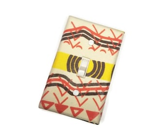African Tribal Light Switch Cover Wall Decor by Urban Swazi