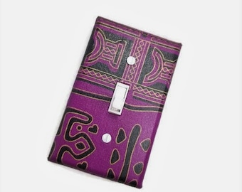 African Inspired Home Decor | Ethnic Wall Art | Purple Home Decor | African American home | Light Switch Covers | Tribal decor | suiteplate