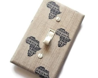 African Home Decor / African Wall Art / Light Switch Cover / African-American / Ethnic Decor / Decorative Switch plate / Urban Swazi