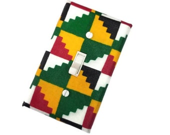 African Inspired Light Switch Cover for Ethnic Home Decor Switch Plate suiteplate by Urban Swazi