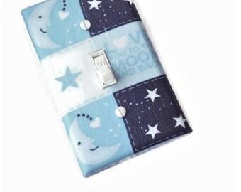 Love You to the Moon and Back Boys Nursery Light Switch Cover   Boys Nursery Décor   Blue Nursery Décor   Baby Nursery Wall Art