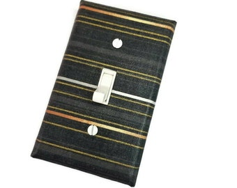 Stripes light switch cover suiteplate by Urban Swazi Gold and Black Home Decor
