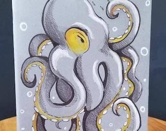 Custom sketchbook - Kraken