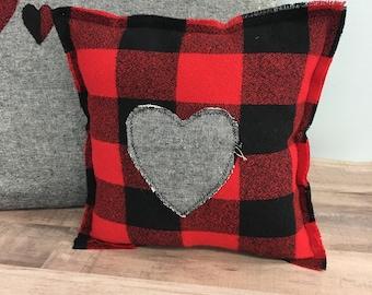 Woodland nursery buffalo plaid baby gift lumberjack decor bitty small pillow