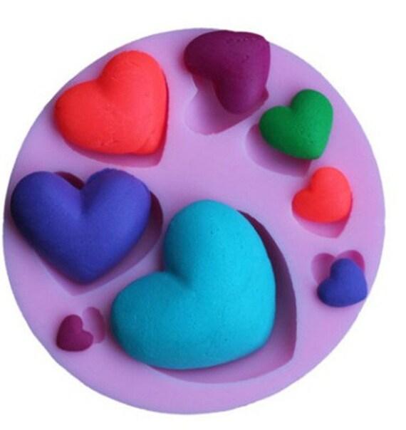 Pfirsich Herz Form Fondant Kuchen Schokolade Handgemachte Etsy