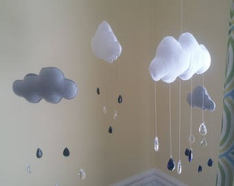 Rain Cloud Mobile Gray