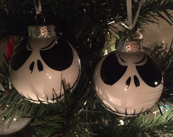 2 jack skellington christmas ornaments