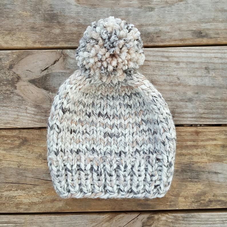 Knitting Pattern - Slouchy Beanie Pattern, Knit Hat Pattern, Toque Pattern,  Pom Pom Hat Pattern, Birch Beanie Pattern