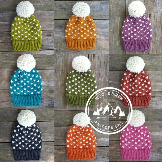 Knitting Pattern Slouchy Beanie Pattern Knit Hat pattern  b64a6b5f018