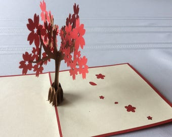 BLOSSOM TREE Pop-Up Card, Thank You