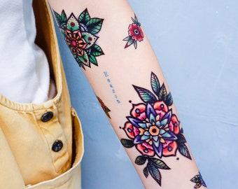 881bd8fdf Old School tattoo Stickers New School tattoos Pop Color tattoos Watercolor  tattoos Neon tattoos Cat Tattoos Mandala Tattoos Flower Tattoos