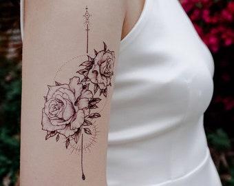 5bf68e92a Tatouage de l'alchimie Rose Flash tattoo longue durée temporaire tatouages  tatouage fleur Stickers tatouages Minimal spirituelle tatouages tatouage ...