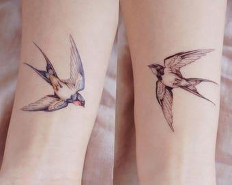 bc2dacafc Color Temporary tattoo Swallow Tattoo Bird tattoo Peace Animal tattoo Fake  Tattoo Quote Realistic tattoo Sticker boho tattoo bohemian Tattoo