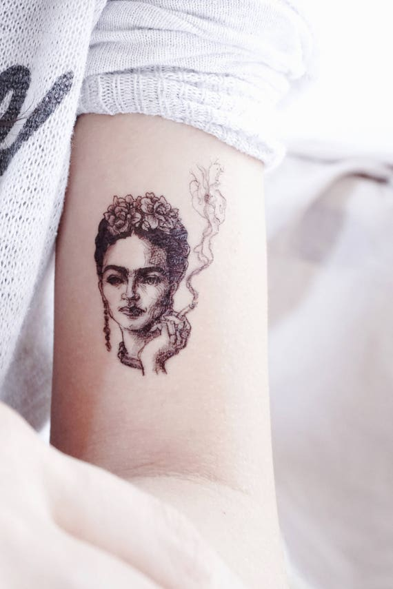caa0d67ff Frida Kahlo tattoos Celebraties Portrait tattoo Stickers   Etsy