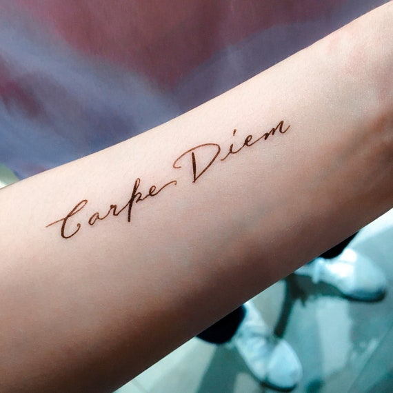 Carpe Diem Freedom Love Life Quote Lettering Words Temporary Tattoo Sticker  Uplifting Motivation Motto Tattoo Flash Friendship Quote Sticker