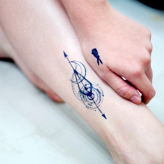 Spiritual Arrow Tattoos Moon Tattoo Illustrative Delicate Fineline Tattoo Flash Boho Temporary Tattoo Sticker Tarot Tattoo Bohemian Tattoos